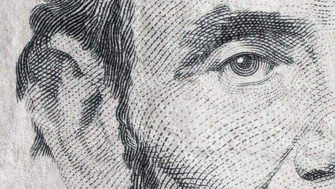Stock photos of close up of money coins dollar bill