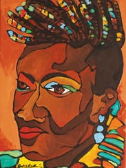 Victoria Kageni-Woodard is depicted in this mural by