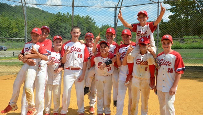 Submitted photo of the Rockland Elite baseball team.