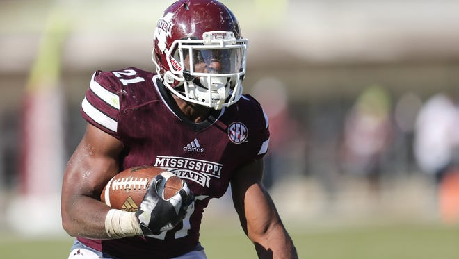 MSU's Nick Gibson is battling for carries behind Aeris Williams at running back during training camp.