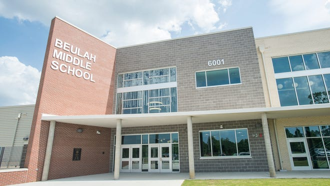 The exterior of the new Beulah Middle School in Pensacola on Tuesday, June 19, 2018.  The school is scheduled to be opened at the start of the upcoming school year.