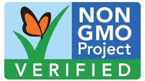 This label verifies a product is non-GMO.