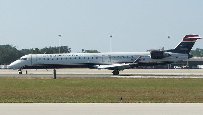 File photo of a US Airways Express CRJ 900.
