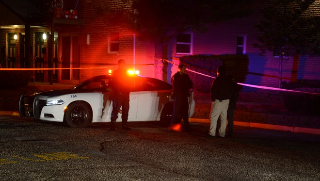 On going homicide investigation in front of Building D at the Hampton Gardens Apartments, James St, Toms River