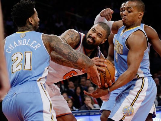 Nuggets Knicks Basketball (2)