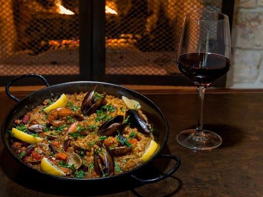 paella and red wine.jpg