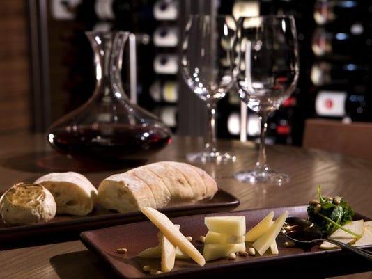 Hyatt 3 Tusca Wine and Cheese.JPG