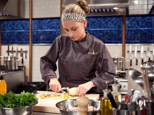 Teen Chef Roxanne Belfiore working on her appetizer.jpg