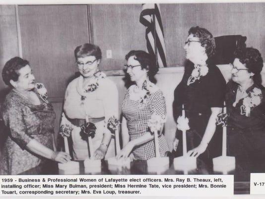 Business Women elect officers 1959.jpg