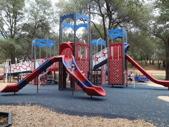 Children play in Kids Kingdom on Thursday. The newly