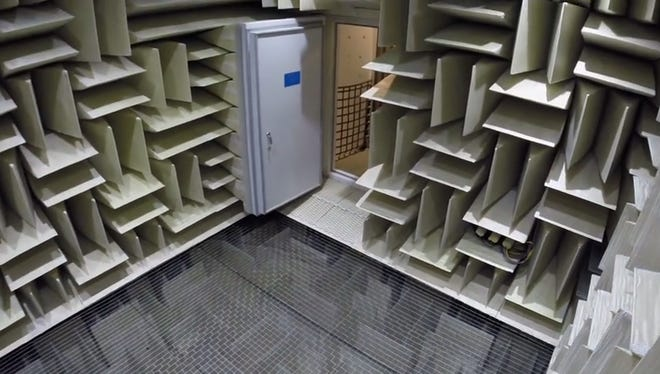 This anechoic chamber at Microsoft's headquarters takes the title.