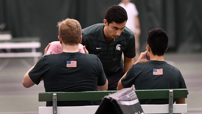 Former East Lansing and MSU tennis standout Harry Jadun was recently named a Spartan assistant coach.