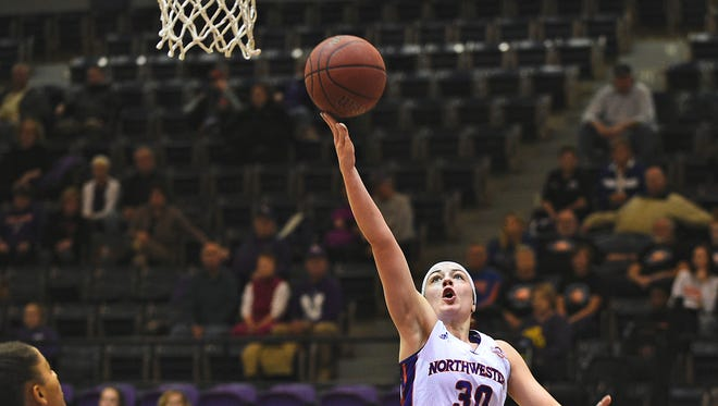 Northwestern State's Beatrice Attura scored a game-high 21 points on Saturday.