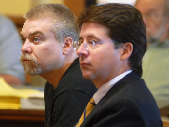 Steven Avery (left) and Dean Strang, one of Avery's
