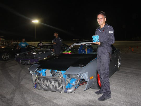 1st Place in the drift competition, Dan Aclaro with his 240sx during the Offset Kings Guam 2014 auto show held at the Guam International Raceway.