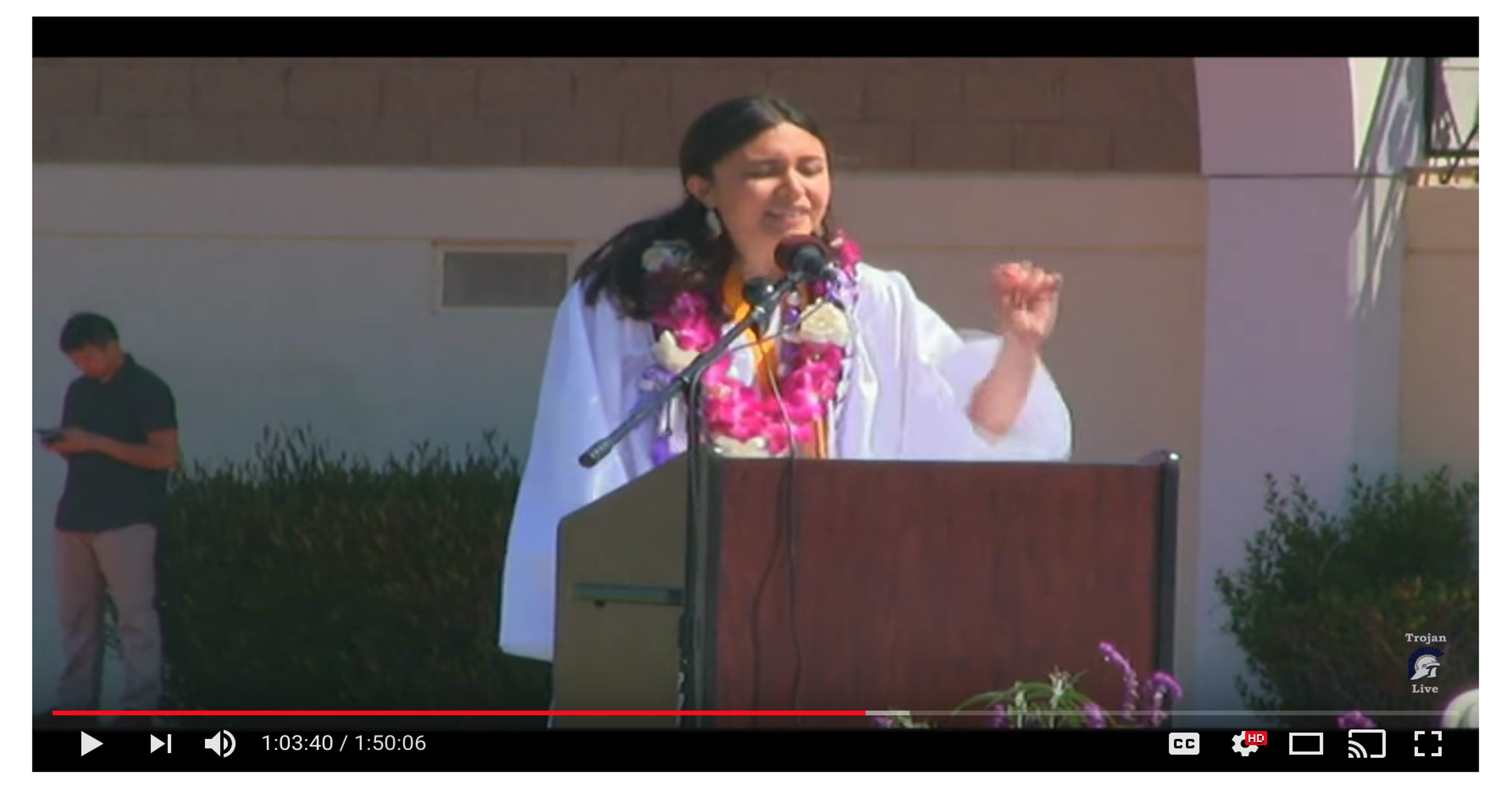 Valedictorian's mic cut over off-script line about sexual ...