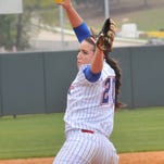 Louisiana Tech senior Bianca Duran's bid for a three-run home run was taken away by UTSA centerfielder Kendall Burton in straight away centerfield for the final out of the game.