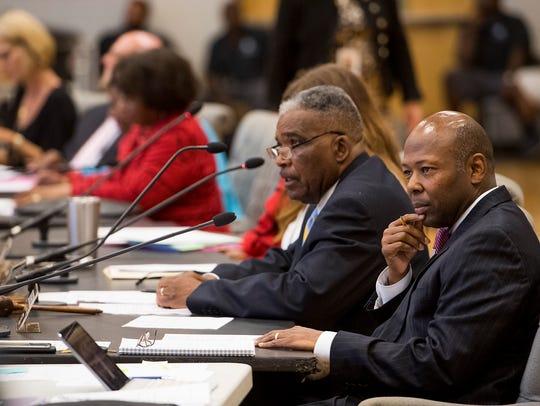 Montgomery Schools CEO Reginald Eggleston and members