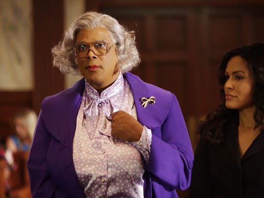 "Tyler Perry, pictured here as Madea in the movie ""Tyler Perry's Madea Goes to Jail,"" brings ""Madea's Farewell Play Tour"" to the Auditorium Theatre at 7 p.m. Thursday. Tickets from primary sellers Ticketmaster and the Rochester Broadway Theatre League box office are sold out."