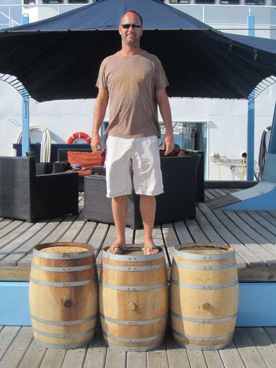 Trey with Ocean Bourbon Barrels