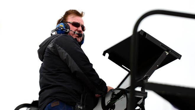 NASCAR Sprint Cup Series owner Richard Childress during practice for the STP Gas Booster 500 at Martinsville Speedway.