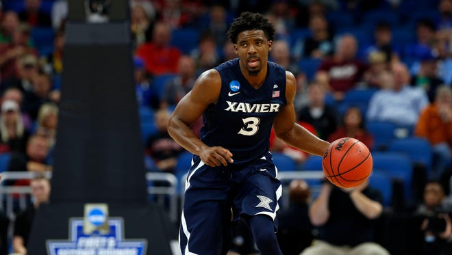 Xavier Musketeers guard Quentin Goodin.