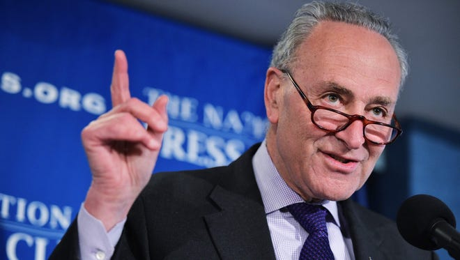 Senate Minority Leader Charles Schumer said he will introduce legislation to decriminalize marijuana.