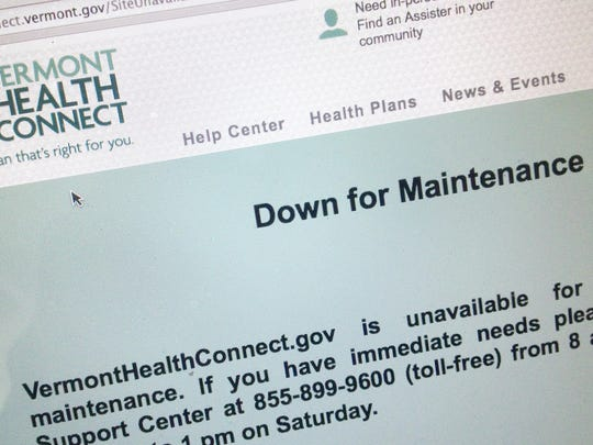 People who sent to the Vermont Health Connect site on on Sept. 16, 2014, were met with this message.