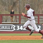ULM's Nathan Pugh runs the bases during the Warhawks' win over Stephen F. Austin on Sunday.