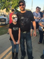 Brianna and Tony Krystoff at the KISS concert on Aug. 11, 2016 at the Resch Center in Ashwaubenon.