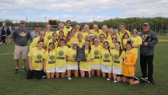 MCC women's lacrosse after winning the national championship Sunday, May 13