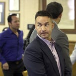 "Michael ""The Situation"" Sorrentino appears in Middletown Township Municipal Court in July. He returned to court Monday and is scheduled to appear in Newark federal court on Oct. 6."