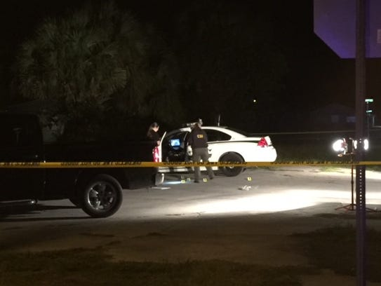 Martin County Sheriff's deputies on the scene of the