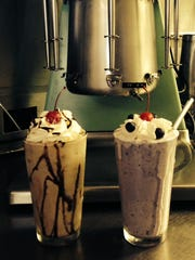 Steer-In's Blueberry and Chocolate Shakes