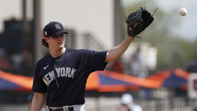 Yankees' top free-agent signing Gerrit Cole's regular-season pinstripe debut is indefinitely on hold.