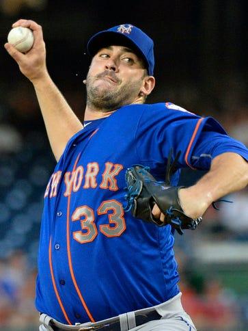 New York Mets starting pitcher Matt Harvey had a 2.71