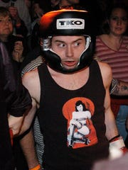Mark Mason of Newark prepares to enter the ring in