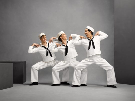 """Jerome Robbins' 1944 """"Fancy Free,"""" performed to a score by a then-up-and-coming Leonard Bernstein, was a mid-World War II tribute to the millions of men and women who were serving in America's military."""