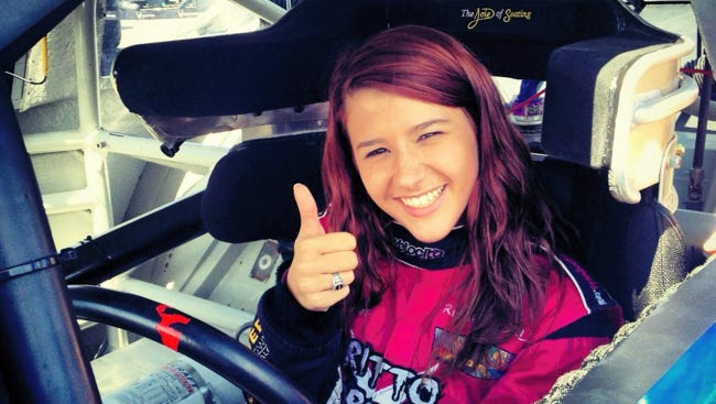 Sixteen-year-old Elco student Amber Britto began her racing career four years ago, and is currently sponsored by the Air Force.