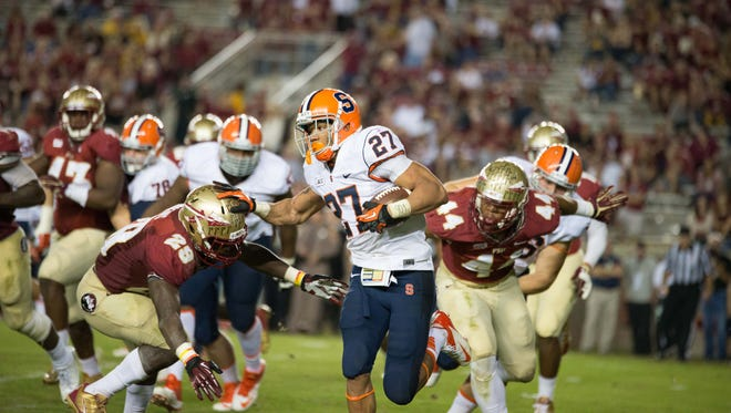 Florida State defeated Syracuse 45-21 in 2015.