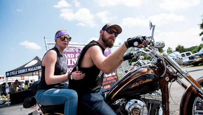 Hundreds of bikers rolled into the Allstar Events Complex in Cumberland Township for the annual Gettysburg Bike Week.