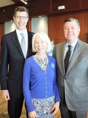 Brian Cuneo, left, Barbara Whitman and Eric Gordon,