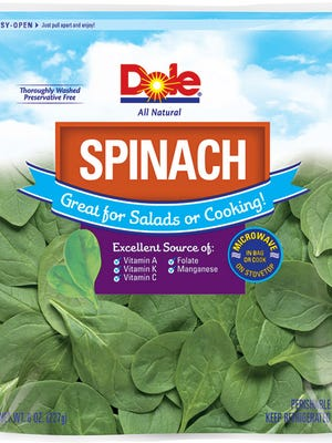 Dole spinach is being recalled in 13 states.