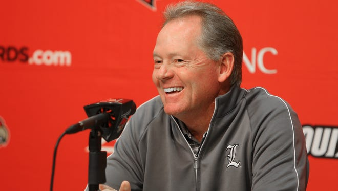 UL coach Bobby Petrino speaks to the media during his weekly press conference.November 16, 2015