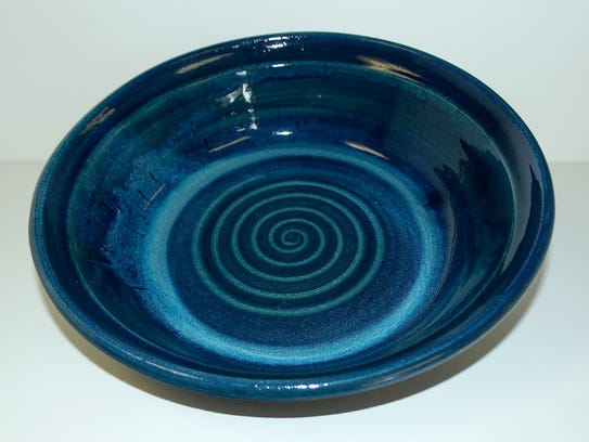 Mike Upp will show this Blue Vortex serving bowl and