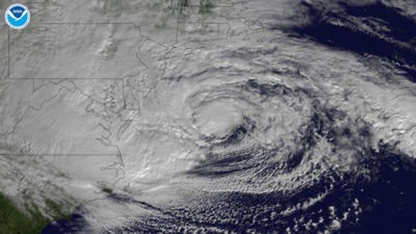 Hurricane Sandy on Oct. 29, 2012 (Source: NOAA)