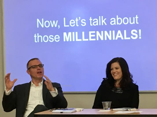 The millennials discussion was led by Valerie McCausland,