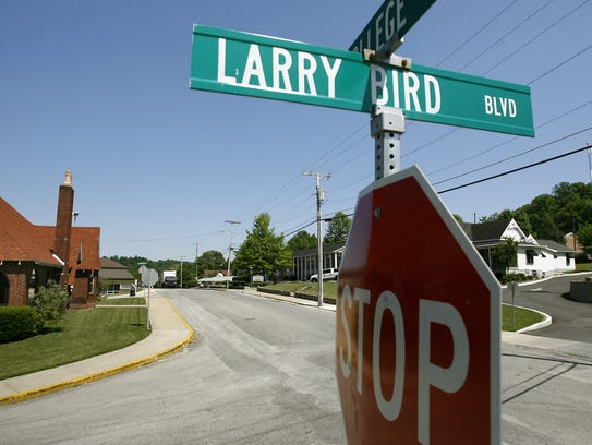 Larry Bird Blvd and College are near Birds old school.