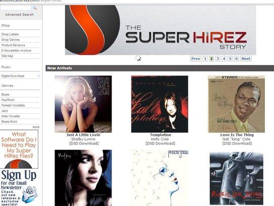 The SuperHiRez.com website