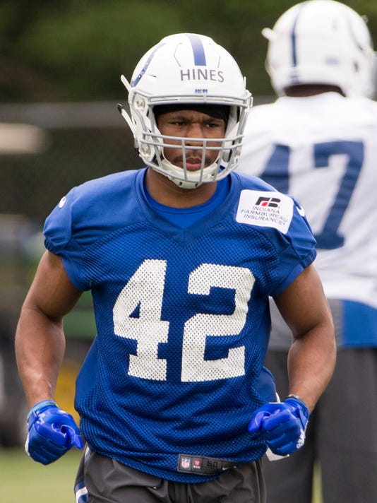Nyheim Hines, running back, Indianapolis Colts Rookie camp, Colts Complex